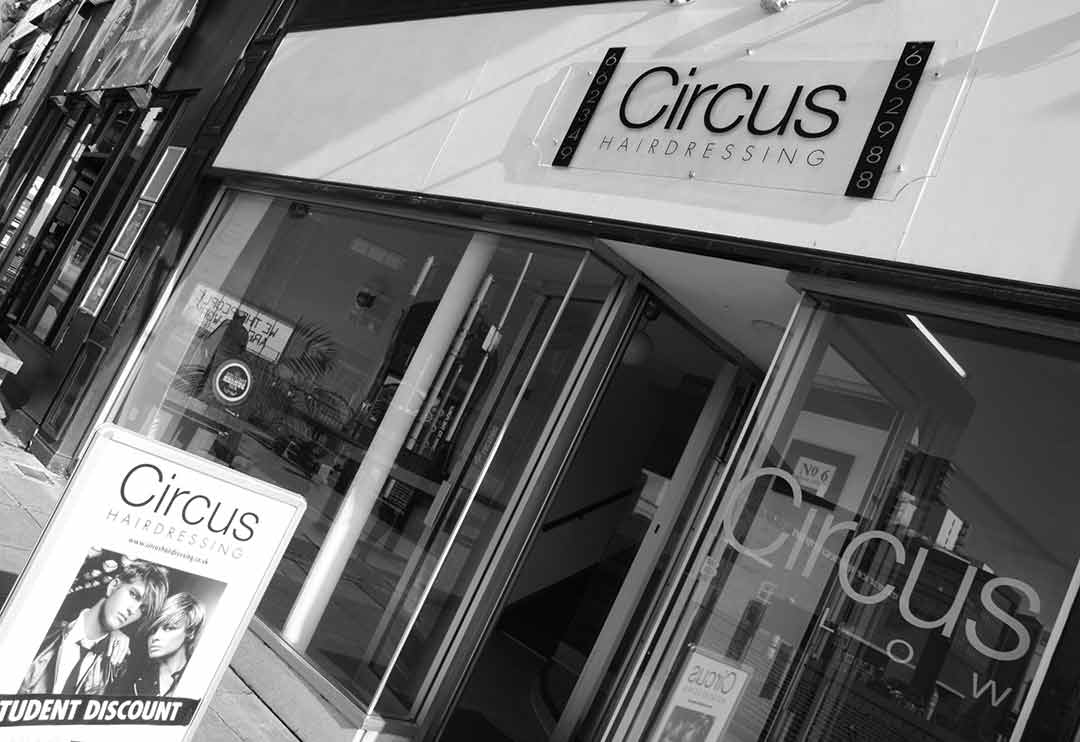 Circus hairdressing store front