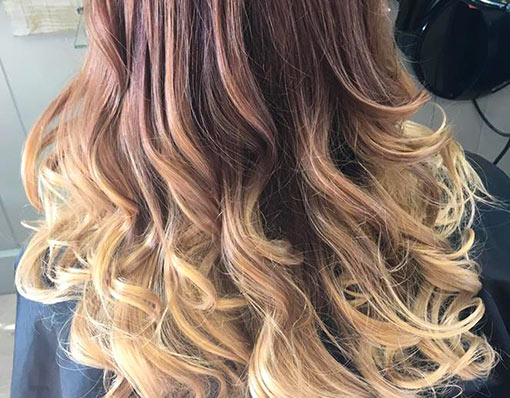 Balayage hair highlights